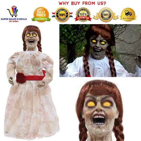 ANNABELLE DOLL Life Size Talking Glowing Animated