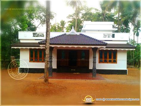 1800 square feet completed home in kerala - Kerala home