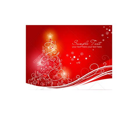 Greeting cards with Christmas tree - vector graphics