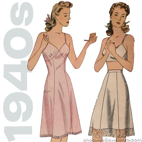 Simplicity 4628 - 1940s Vintage Lingerie Sewing Pattern