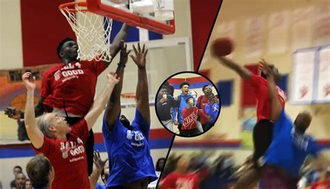 16-Year Old Zion Williamson Dunks On Grown Men At