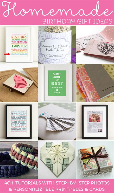 Homemade Birthday Gifts - Ideas & Instructions
