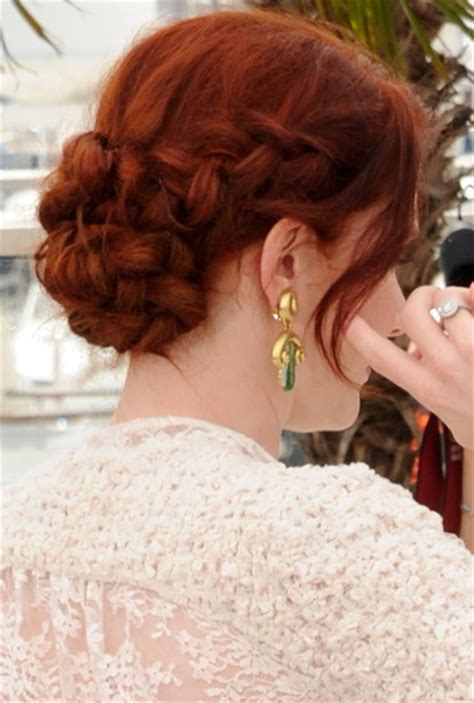 Braided Updo Hairstyles for 2014 - Rich Red Braid Chignon