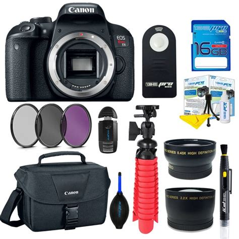 Canon EOS Rebel T7i DSLR Camera (Body Only) + SD Card