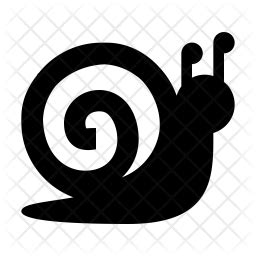 Snail Icon of Glyph style - Available in SVG, PNG, EPS, AI