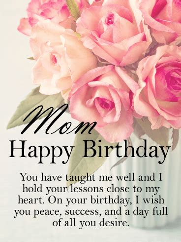 Mother wishes for her son birthday
