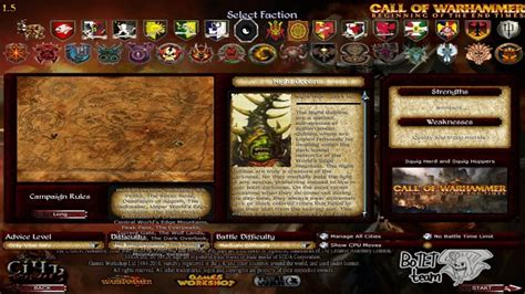 Faction Selection screen image - Call of Warhammer