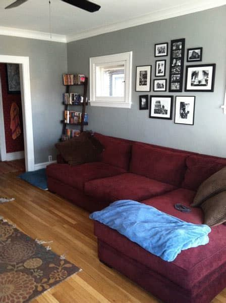 Which Rug to Go with Very Burgundy Couch? | Burgundy couch