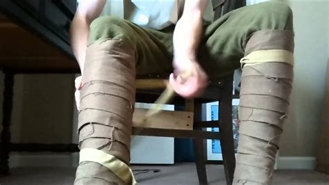 How to Wrap WWI Puttees - YouTube