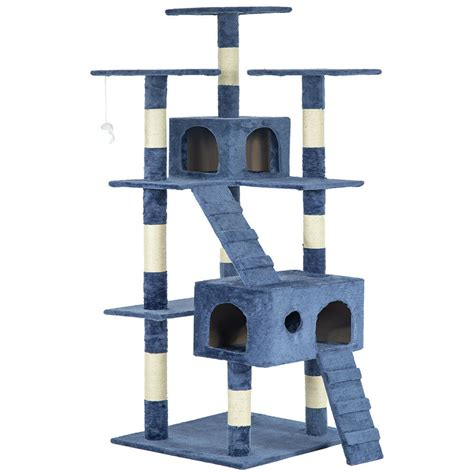 """All Color 73"""" Cat Tree Scratcher Play House Condo"""