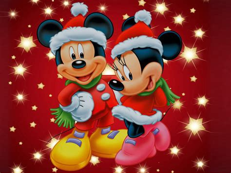 Mickey And Minnie Mouse Christmas Theme Desktop Wallpaper