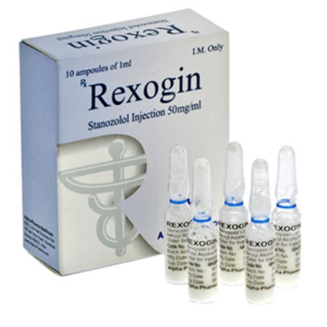 Rexogin (stanozolol injection) 10 ampoules (50mg/ml