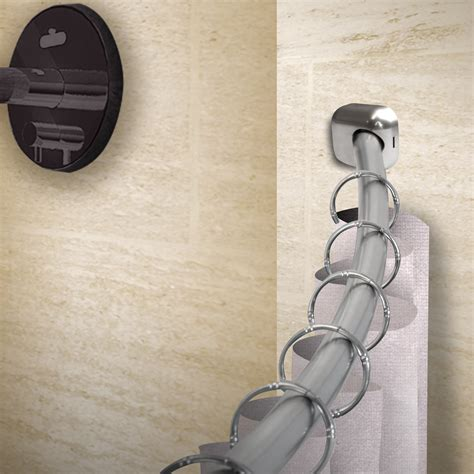 """Rod Desyne 1"""" Rust-Prevention Curved Shower Curtain Rods"""