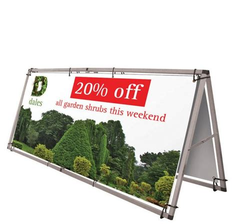 A Frame Banner Stand 2000mm x 1000mm with Carry Bag