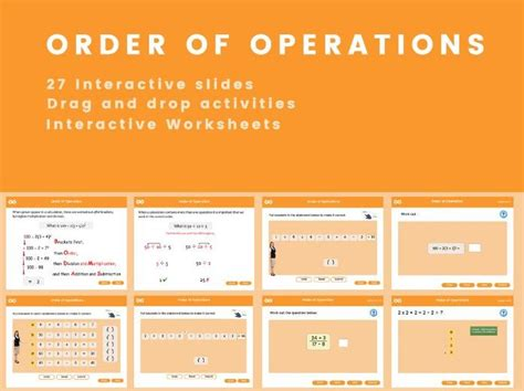 Order of Operations   Teaching Resources