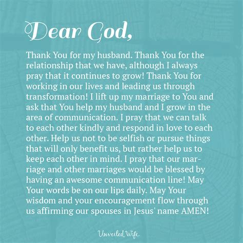 Prayer Of The Day - Communication In Marriage