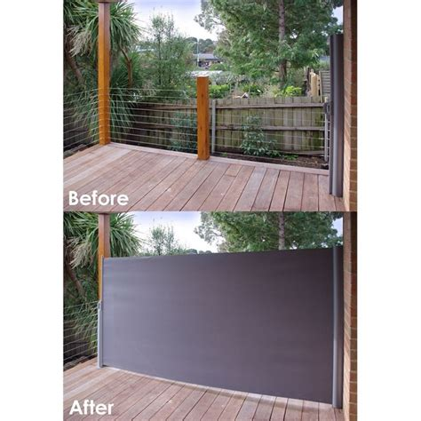 Find Pillar Products 2 x 3m Charcoal Retractable Patio