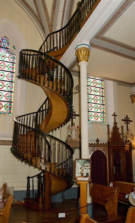 Miraculous Staircase of Loretto Chapel   from the chapel's