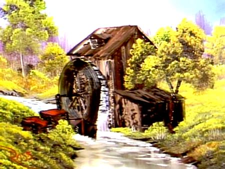 The Old Mill - The Joy of Painting S3E9   Bob ross, The