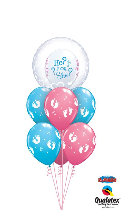 Get Baby reveal Helium Balloons Delivered to your choice