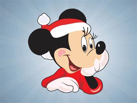 Christmas Minnie Mouse Vector Art & Graphics | freevector