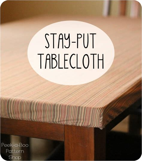 Tutorial: Make a tablecloth that stays put – Sewing
