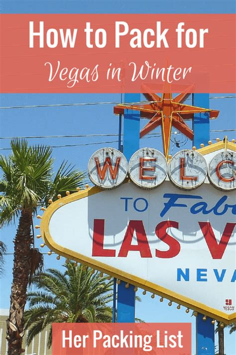 Ultimate Female Packing list for Las Vegas in Winter - Her