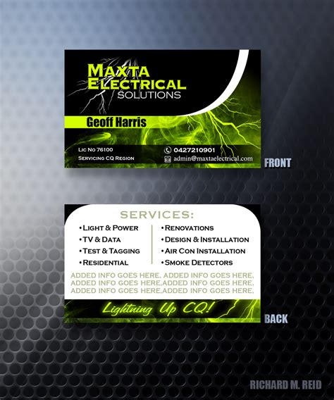 Business Business Card Design for Maxta Electrical