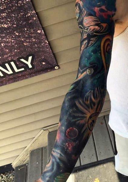 70 Outer Space Tattoos For Men - Galaxy And Constellations