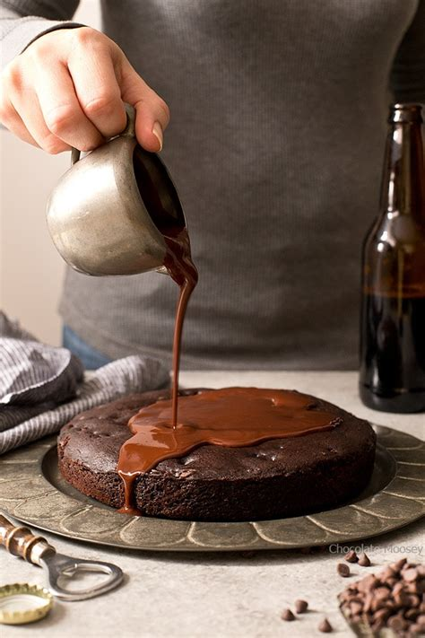 One Layer Chocolate Stout Cake - Chocolate Moosey